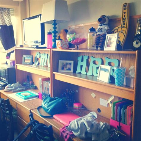Dorm Desks College Pinterest College Desk Organization