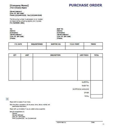 39 Free Purchase Order Templates In Word Excel Free Template Downloads Free Purchase Order Template