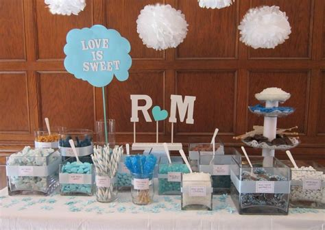 engagement decoration ideas at home sweet table turquoise white wedding ideas pinterest