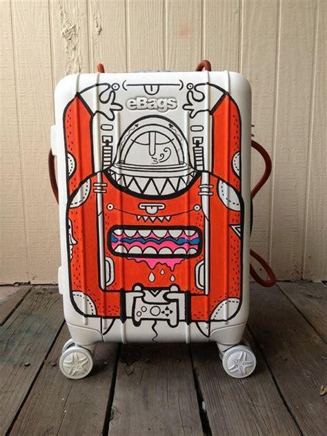 spray painting luggage waiting for lift customized luggage on behance