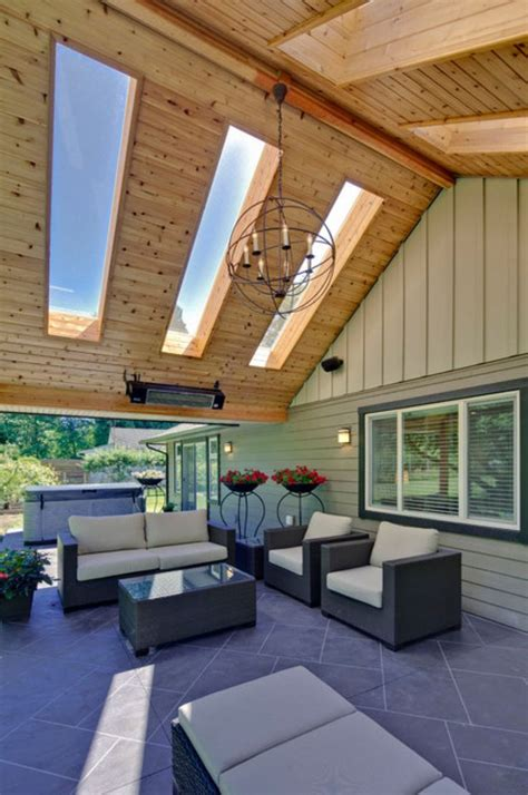 skylights  patio roof outdoor room ideas pinterest