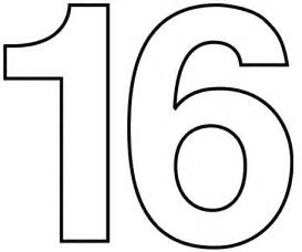 number 16 template free printable coloring pages for color by number 11
