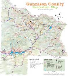 map of gunnison colorado gunnison county recreation map gunnison crested butte