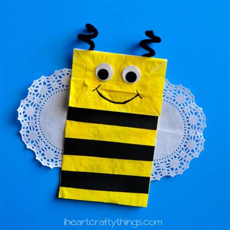 How To Make A Paper Bee - paper bag bee craft i crafty things