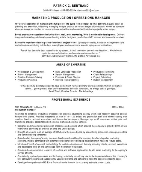plant manager resume samples visualcv resume samples database