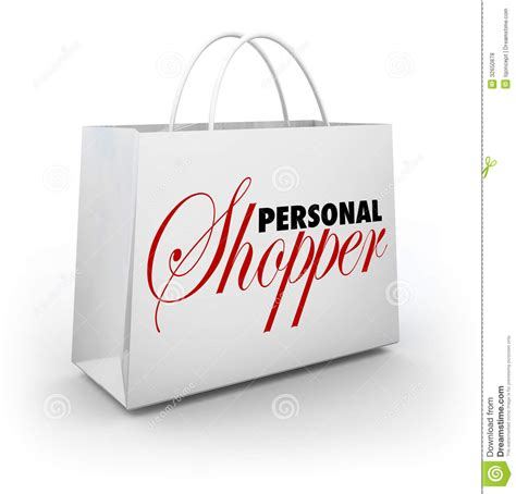 personal shopper fashion style assistant service shopping bag stock illustration illustration