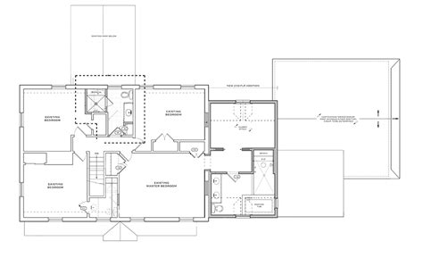 2nd floor addition floor plans project spotlight 2 story addition solves space dilemmas