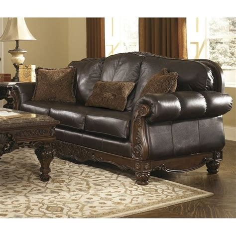 ashley furniture brown leather couch 17 best ideas about ashley leather sofa on pinterest