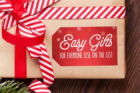 easy gifts for everyone else on the list stickeryou