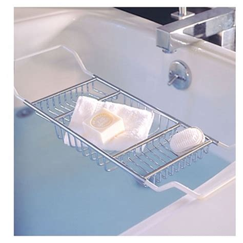 expandable bathtub caddy expandable bath caddy polished chrome in tub caddies and