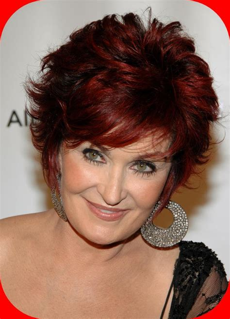sharon osbourne hairstyles the short red brown sharon osbourne hairstyles