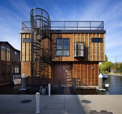 Susan Broll Interior Design by World Of Architecture Floating Homes Lake Union Float
