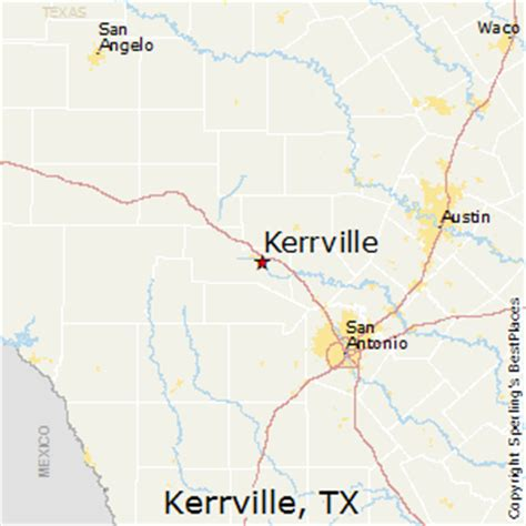 kerrville texas map best places to live in kerrville texas