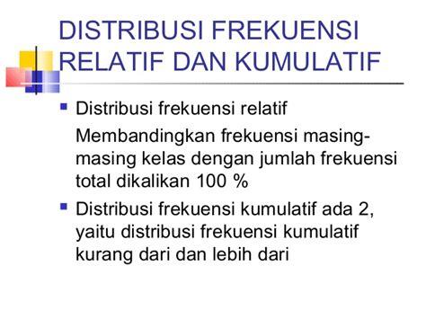 membuat tabel distribusi frekuensi kumulatif lebih dari statistika tabel distribusi frekuensi