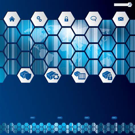 Hexagon Style Web Template Design Royalty Free Stock Photo Image 29537335 Hexagon Website Template