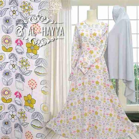 Gamis Humairah Syari Khimar Crepe Motif Bunga Flower Busui Wudhu baju gamis motif geranium premium busana muslim