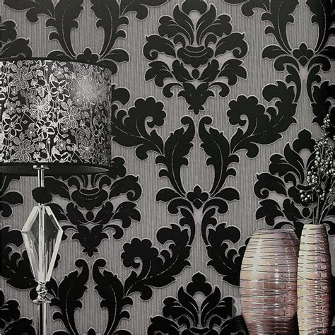 black damask wallpaper home decor modern classic wall paper home decor background wall