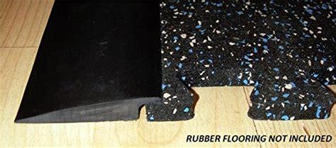 RB Rubber Black Beveled Rubber Flooring Edge Reducer   12