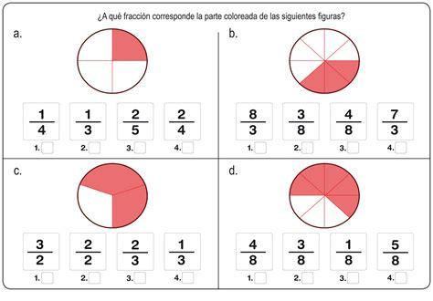 ejercicios de fracciones de cuarto de primaria ejercicos de fracciones para repasar en primaria