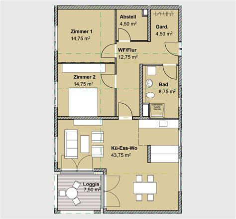 wohnung 75 m2 grundriss barrierefreies wohnen mit stil ambiente roteux