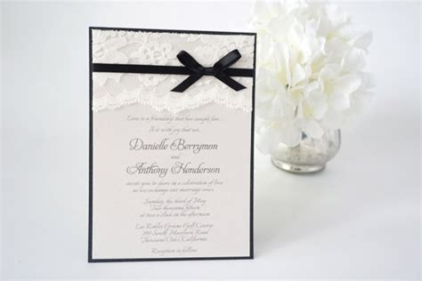 wedding invitations with bows image gallery lace bow invitation