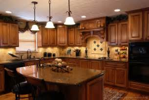 Pictures of kitchens traditional medium wood golden brown