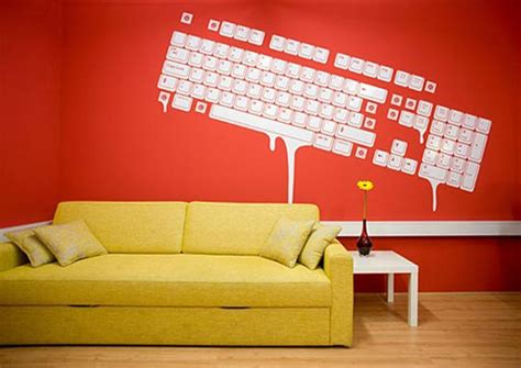 office wall decorations dripping keyboard wall art office space pinterest