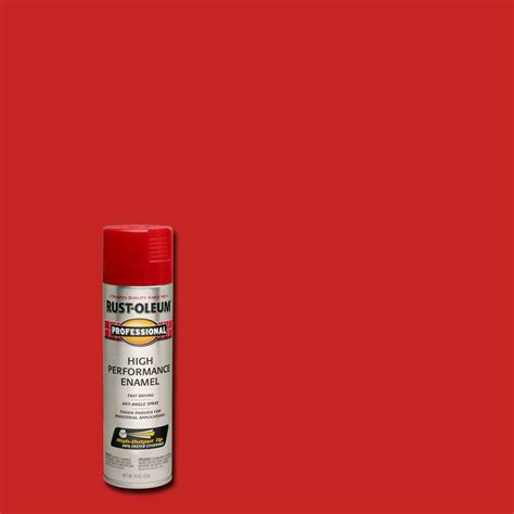 rust oleum professional 15 oz gloss safety protective enamel spray paint 7564838 the home
