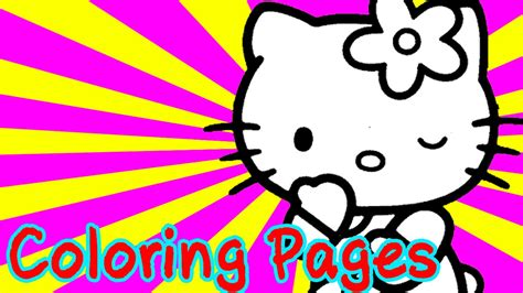 hello kitty coloring pages youtube hello kitty colouring pages for kids coloring games