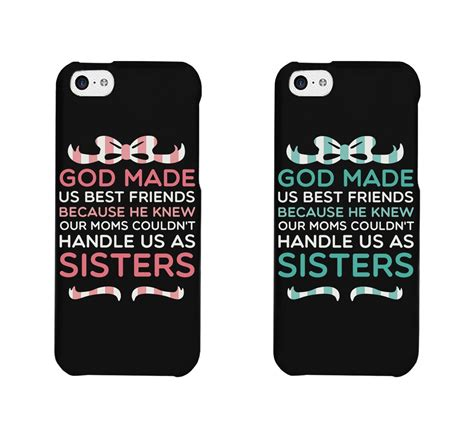 best friend phone cases bff phone cases god made us best from