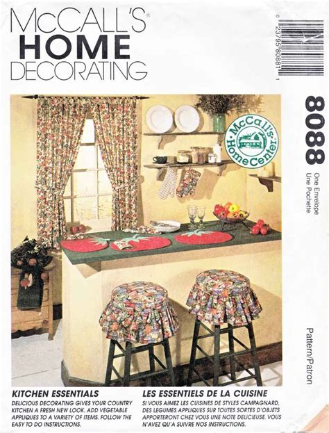 kitchen curtain sewing patterns mccall s sewing pattern 8088 crafts home decorating
