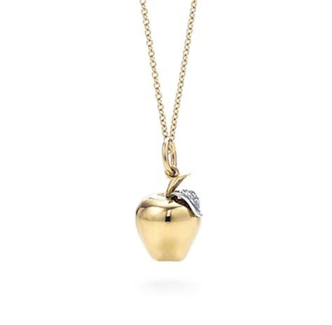 Apple Pendant Necklace apple charm pendant necklaces maegan