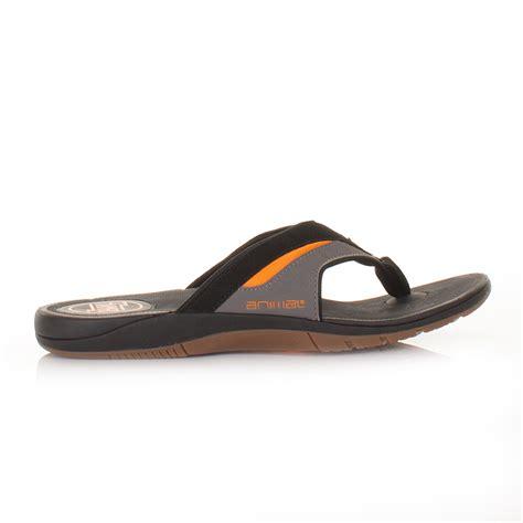 12 Flip Flops by Mens Animal Fader Black Orange Soft Toe Post Flip Flops