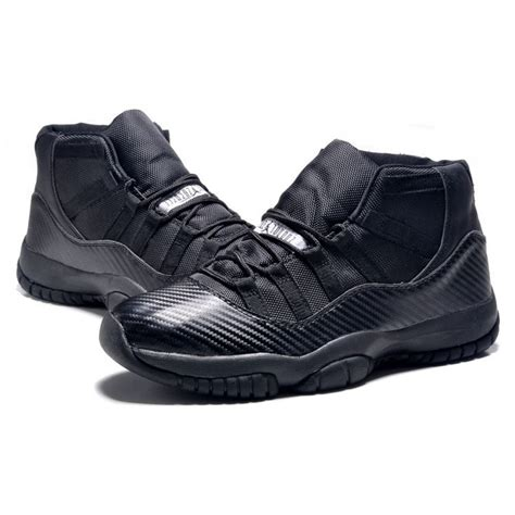 all black mens sneakers shop air 11 retro carbon fiber blacked out all