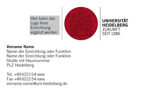Visitenkarten Englisch by Visitenkarten Service Universit 228 T Heidelberg