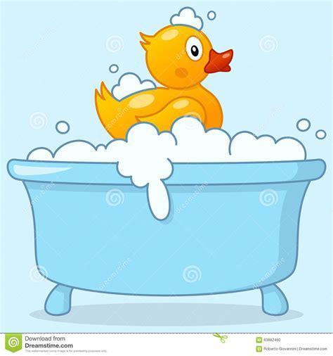Cartoon boy bathtub with rubber duck stock vector illustration of bathing illustration 63882460