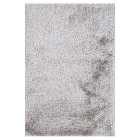 sona rug sona modern silver grey shag rug 3 6x5 6 kathy kuo home