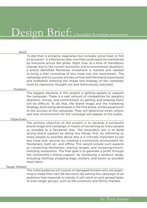 design brief exle architecture design brief
