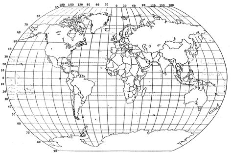 latitude and longitude world map world map black and white with longitude and latitude