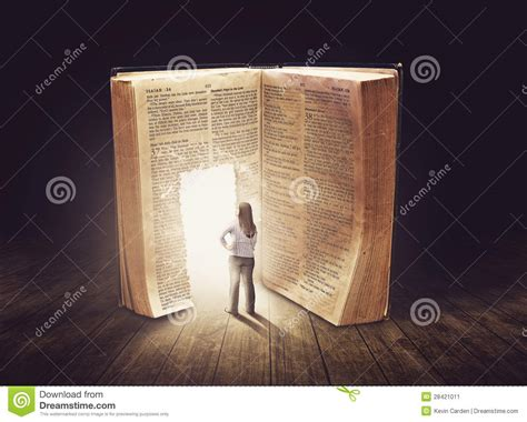 large books woman looking at large book stock image image 28421011