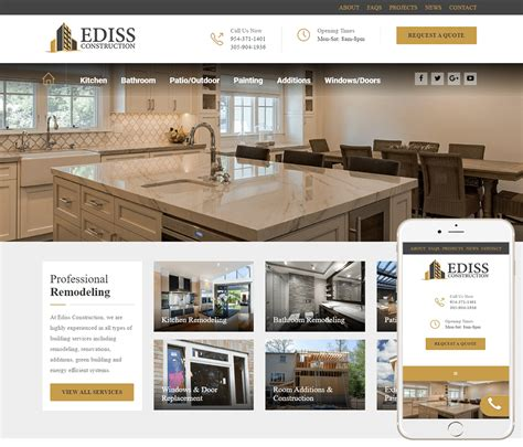 Home Construction Website Design by Construction Company Website Design Home Construction