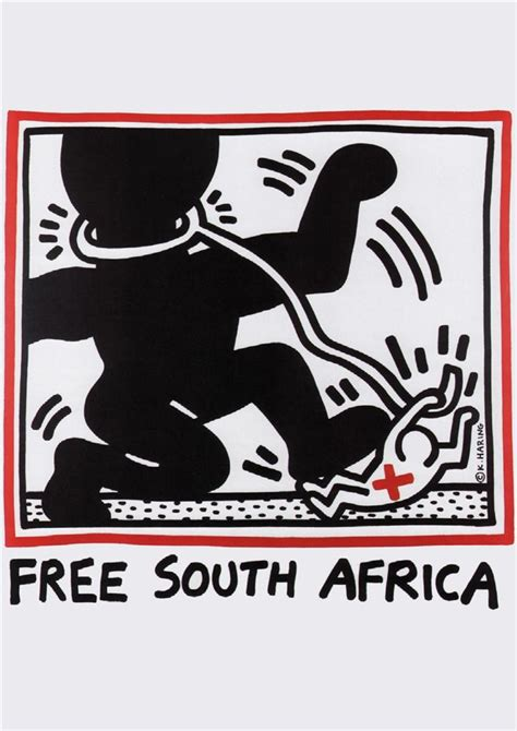 ebay south africa free south africa by keith haring 1985 south africa