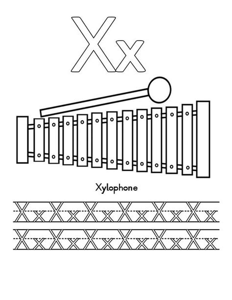 free coloring page xylophone xylophone free coloring pages