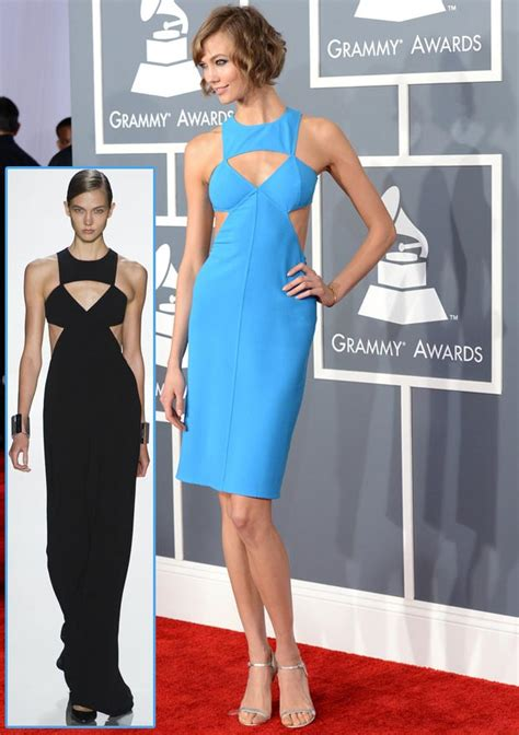 Catwalk To Carpet Grammy Awards by 2013 Grammy Awards Fashion Karlie Kloss In Michael Kors