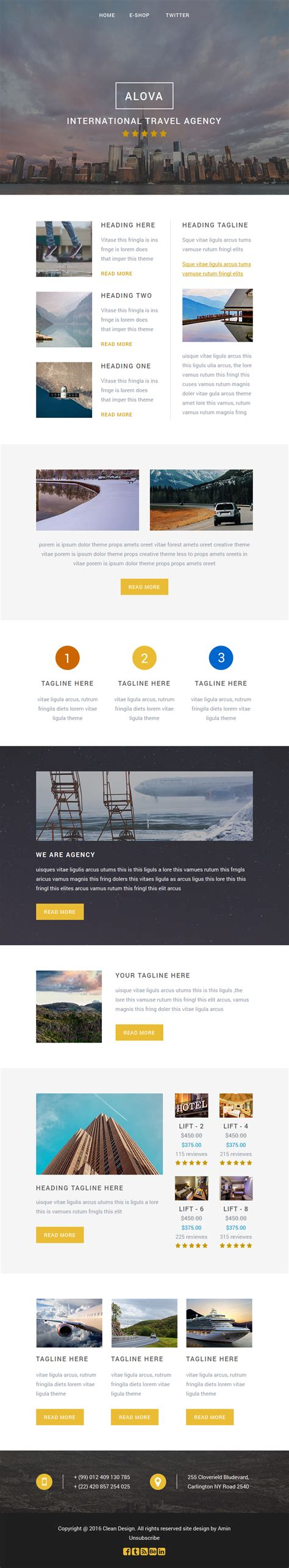 alova travel email template themes templates