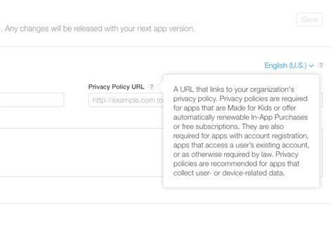 Privacy Policy For Ios Apps Template And Guide Free App Privacy Policy Template