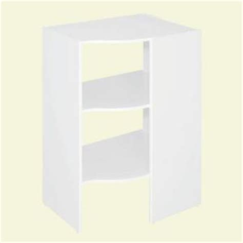Closetmaid Corner Shelf Closetmaid Selectives 20 In X 41 5 In X 29 In 3 Shelf