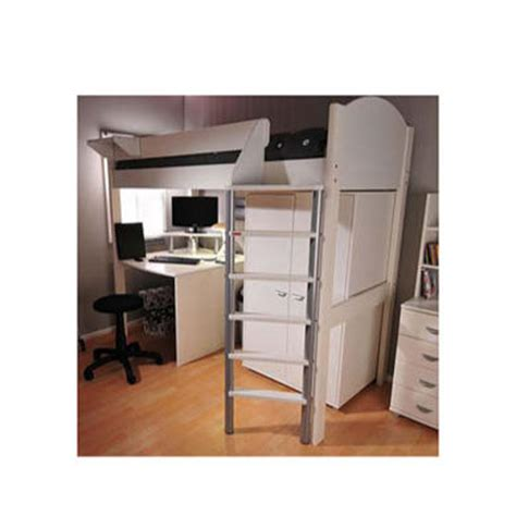 Bed And Desk Combo by Stompa Casa White Highsleeper Bed With Desk And