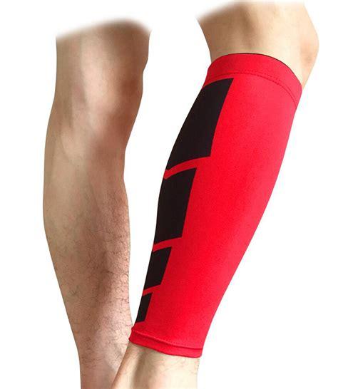With Leg L by Calf Shin Compression Support Wrap Leg Brace Sock Splint