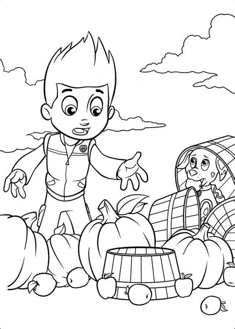 paw patrol thanksgiving coloring pages to print paw patrol 45 coloring pages for kids